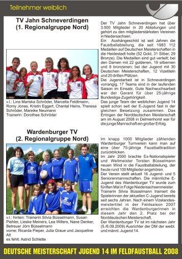 Teilnehmer weiblich.cdr - VfL Kirchen