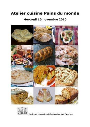 Atelier cuisine Pains du monde - Centre de Rencontre et d ...
