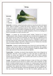 Poireau Saison(s) Hiver Printemps Eté Automne Généralité : Le ...