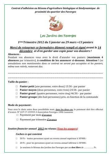 Contrat en pdf - Centre de Rencontre et d'Animation des Faverges