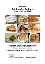 Atelier Cuisine des Balkans - Centre de Rencontre et d'Animation ...