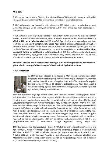 KDF technológia - Favora-Info Kft.
