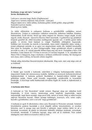 A kurkuma hatásai - Herbalance - Favora-Info Kft.