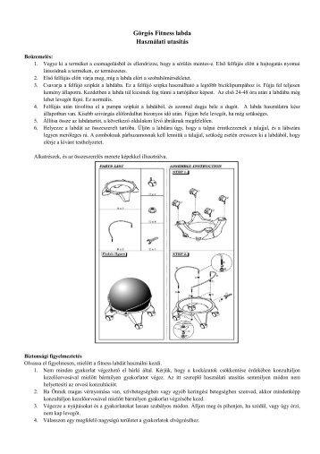 Görgős Fitness labda Használati utasítás - Favora-Info Kft.