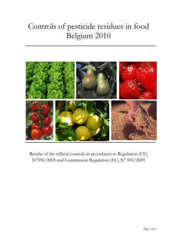 Controls of pesticide residues in food Belgium 2010 - Favv