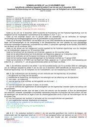 KONINKLIJK BESLUIT van 10 NOVEMBER 2005 betreffende ... - Favv