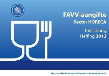 Brochure Horeca - Favv