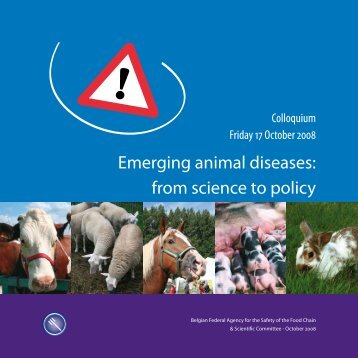 Emerging animal diseases: from science to policy - Favv