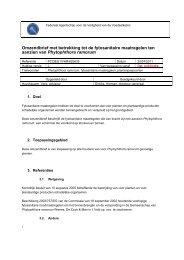 Omzendbrief met betrekking tot de fytosanitaire maatregelen ... - Favv