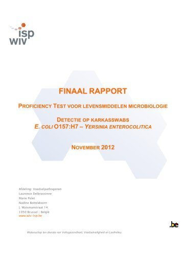 Verslag - Favv