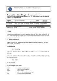 Omzendbrief met betrekking tot de procedure en de ...