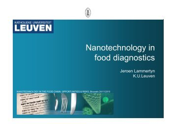 Nanotechnology in Nanotechnology in food diagnostics - Favv