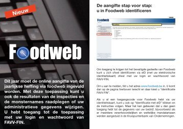 Foodweb - Favv