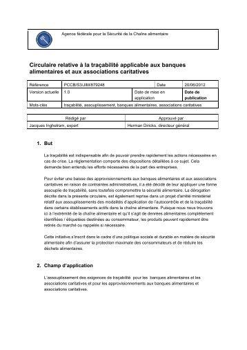 Circulaire relative à la traçabilité applicable aux banques ...