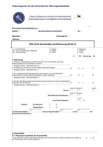 DPA 2216 Arzneimittel und Betreuung [2216] v2 - Favv