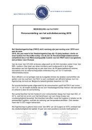 Persvoorstelling van het activiteitenverslag 2010 12/07/2011 - Favv