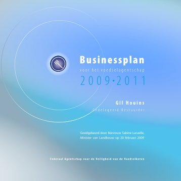 Businessplan 2009-2011 - Favv