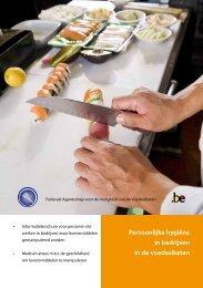 Persoonlijke hygiëne in bedrijven in de voedselketen