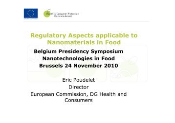 R l t A t li bl t Regulatory Aspects applicable to Nanomaterials ... - Favv