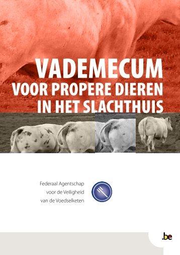 Vademecum voor propere dieren in het slachthuis - Favv
