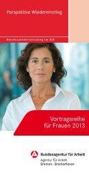 Vortragsreihe für Frauen 2013 - Frauen in Arbeit und Wirtschaft