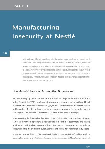PART II: Manufacturing Insecurity at Nestle - Food and Allied ...