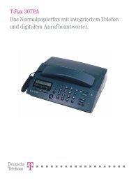 BDA Telekom T-Fax 307PA english/französisch - Fax-Anleitung.de