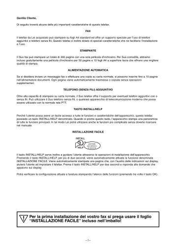 Istruzioni per l'uso - Fax-Anleitung.de