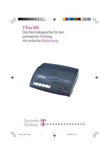 BDA Telekom T-Fax 308 deutsch - Fax-Anleitung.de