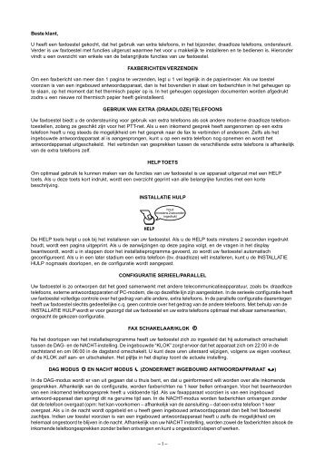 Philips HFC 141/171 NL Manual - Fax-Anleitung.de