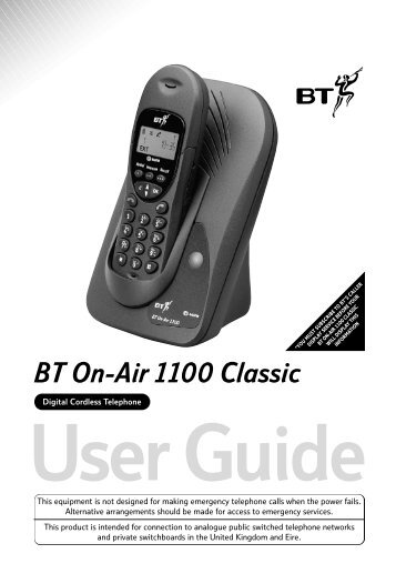 BT On-Air 1100 Classic - Fax-Anleitung.de
