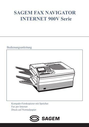 SAGEM FAX NAVIGATOR INTERNET 900V Serie - Fax-Anleitung.de