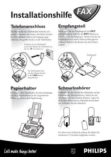 Anleitung Magic2 Kala EasyInstall - Fax-Anleitung.de
