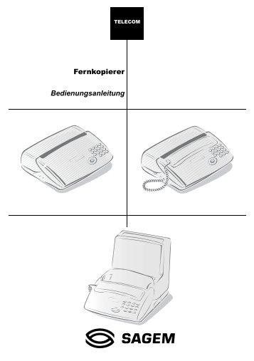Bedienungsanleitung Fernkopierer - Fax-Anleitung.de