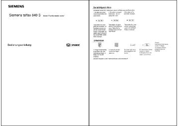 BDA Siemens Telfax 840S (Funktionstaste rechts) - Fax-Anleitung.de