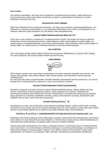 Käyttöopas - Fax-Anleitung.de
