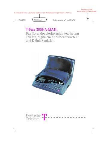 7 )D[ 3$ 0$,/ - Fax-Anleitung.de