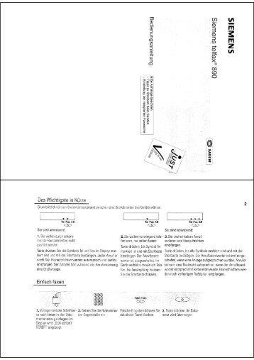 BDA Siemens Telfax 890 - Fax-Anleitung.de