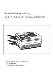 Anhang: Doppelleitungsgerät (biligne) 9xxb ... - Fax-Anleitung.de