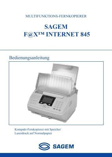 BDA Laserfax 845i österreich - Fax-Anleitung.de