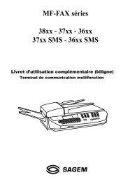 MF-FAX séries 38xx - 37xx - 36xx 37xx SMS ... - Fax-Anleitung.de