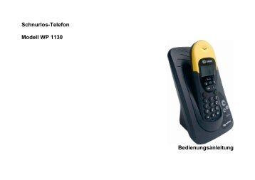 BDA WP11-30 - Fax-Anleitung.de