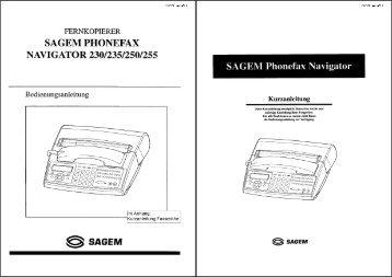 Anleitung Phonefax 230/235/250/255 deutsch - Fax-Anleitung.de