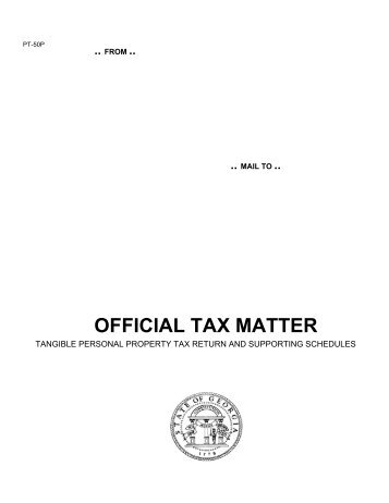 OFFICIAL TAX MATTER - Fayette County Government