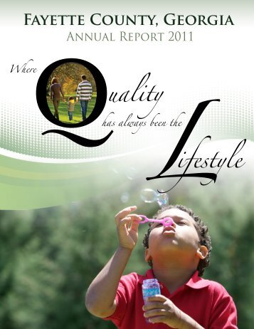 Download the 2011 Annual Report - Fayette County Government