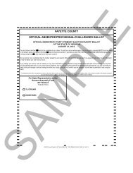 fayette county official absentee/provisional/challenged ballot