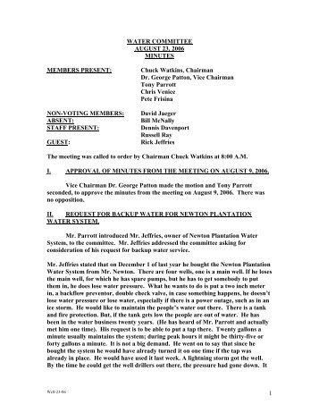Aug 23, 2006 Meeting Minutes - Fayette County Government