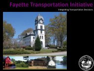 Integrating Transportation Decisions - Fayette County Government