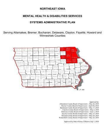 northeast iowa mental health & disabilities services ... - Fayette County