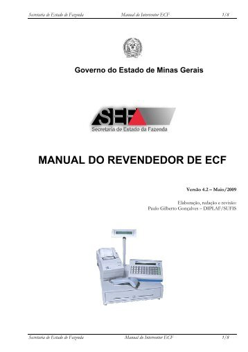 Microsoft Word - Manual do Revendedor de ECF.doc - Secretaria de ...